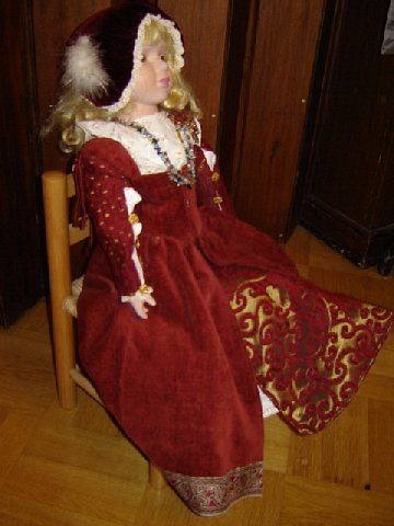 A doll in a Renaissance dress- 16th century