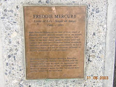 Photo of Freddie Mercury bronze plaque