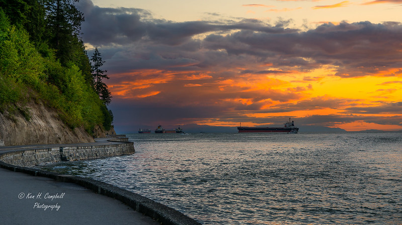 Sunset from the Seawall