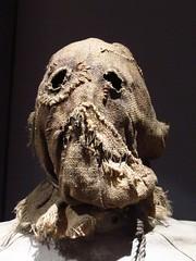 The Scarecrow mask from The Batman Exhibition - Warner Bros. Studio VIP Tour - Burbank, Los Angeles, California, USA