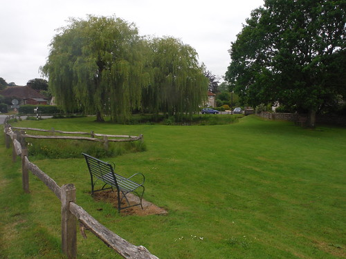 Picnic spot by the village pond in East Dean