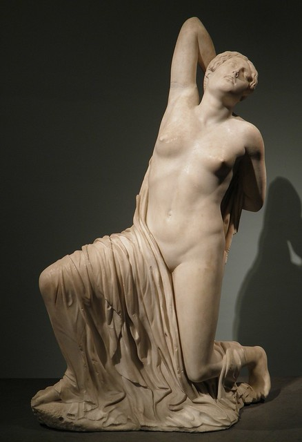 Wounded Niobe, Parian marble, ca. 440 BC, from the Horti Sallustiani in the area of Piazza Sallustio, Palazzo Massimo alle Terme, Rome
