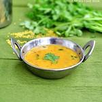 Moong dal sambar/Paasi Paruppu Sambar for idli