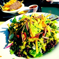 One of my favorite summer meals: tostada salad at Mucho Gusto!