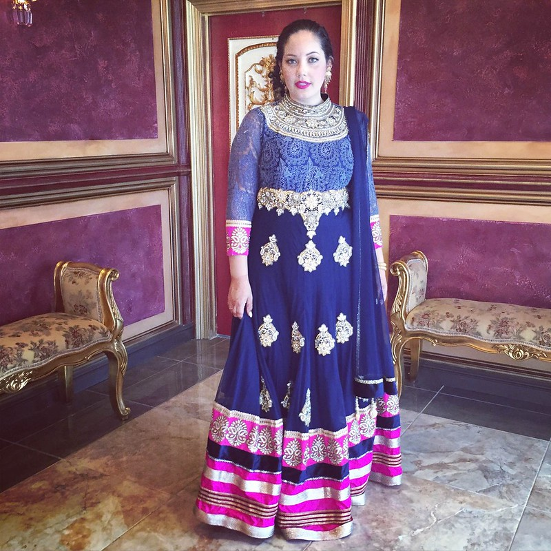 A coloful celebration curvy fashion for Plus size indian wedding dresses