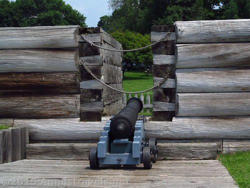 A canon on the walls at Fort Stanwix National Monument, New York