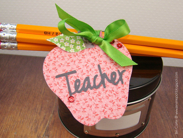 Jen Carter Simple Teacher Pencil Gift Closeup