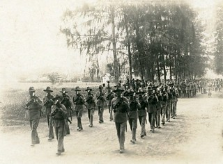 Funeral procession for Sergeant Wilson in Rabaul, New Guinea - October 1916