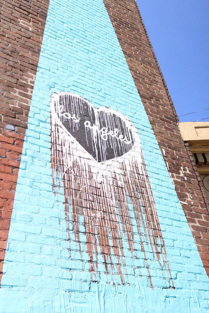 Los Angeles Heart Street Art Angel City Brewery