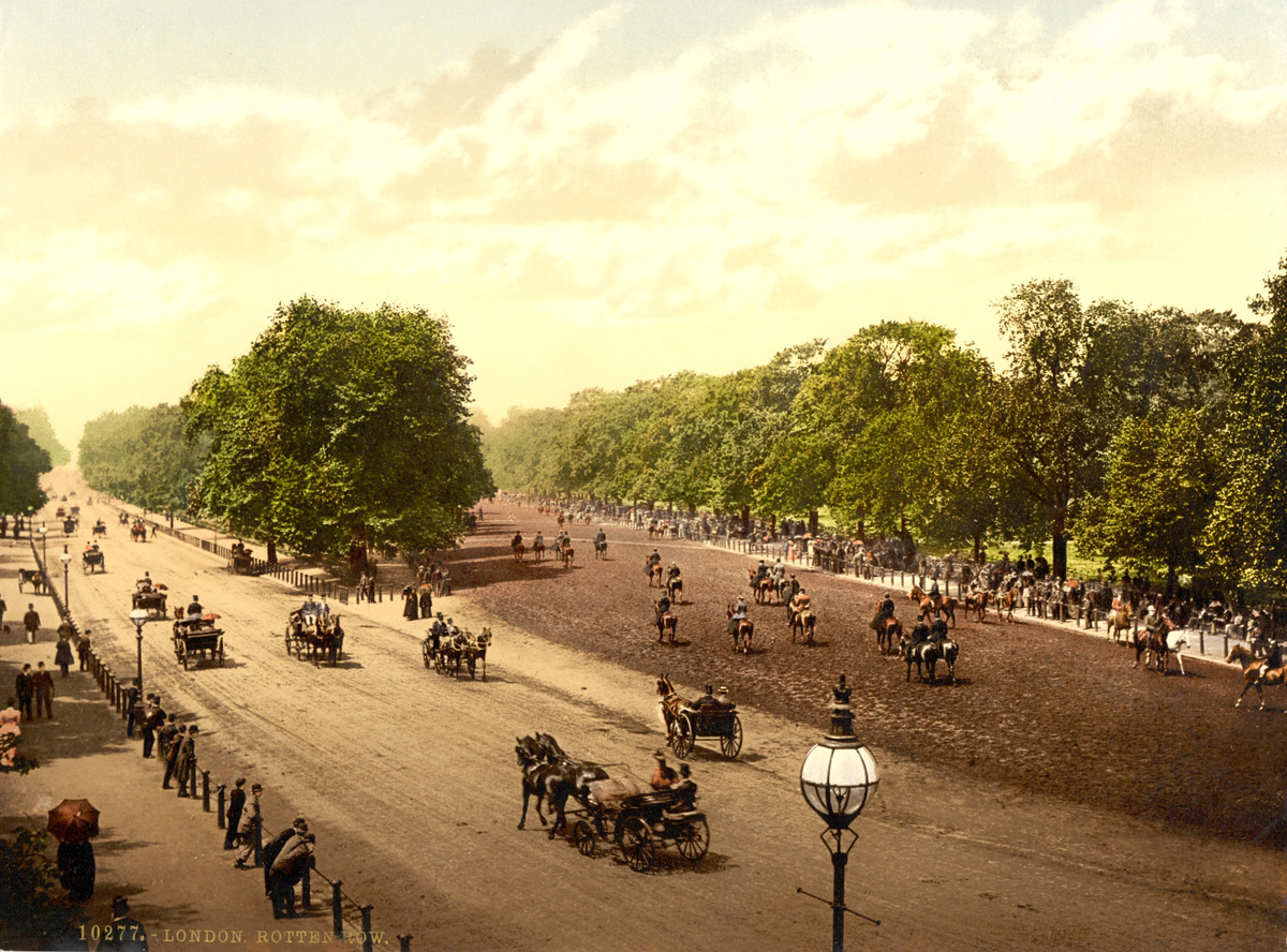 Rotten Row and Hyde Park Corner, London