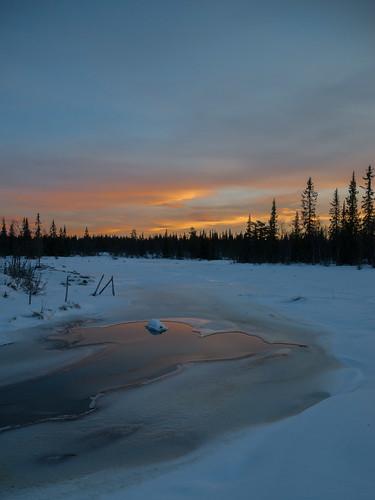 hemsedal ice lowlight mountain snow winter buskerud norway