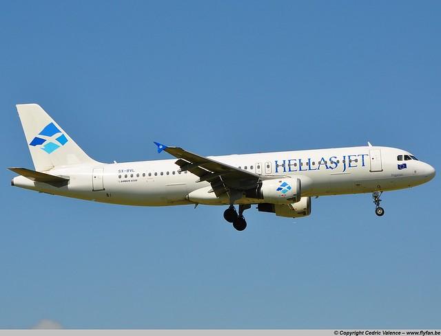 SX-BVL - A320 Hellas Jet - AMS 23-06-09