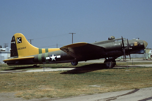 Boeing B-17G Fortress at the Planes Of Fame Museum, 1980