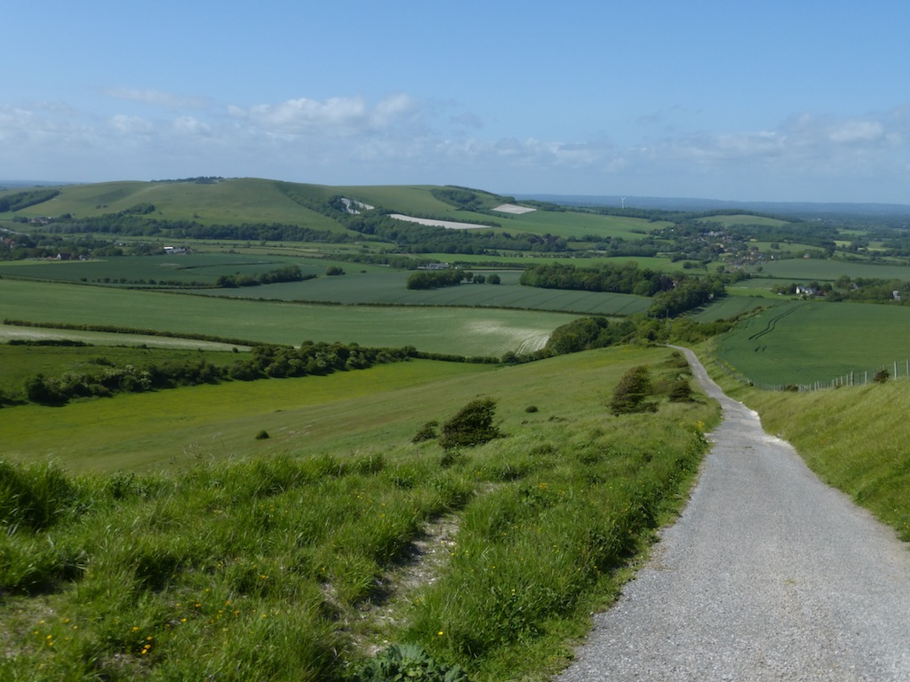 Descending to Glynde (anticlockwise) Lewes Circular walk