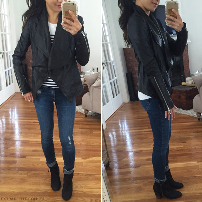 Trouve leather jacket nordstrom