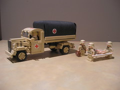 Lego Afrikakorps Opel Blitz Makeshift Field Ambulance