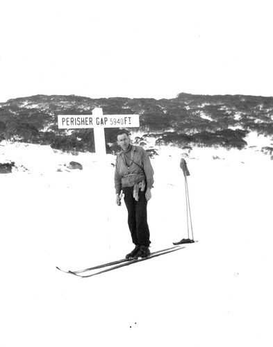 Carl Frankel at Perisher Gap, 1st half 1930's