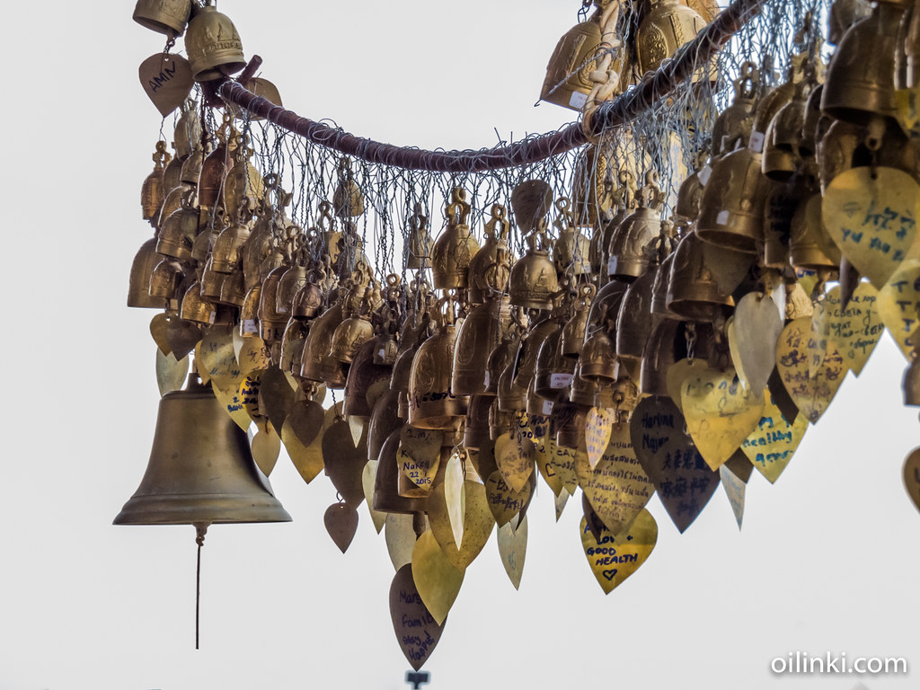 Wishing bells for good luck at Big buddha of Phuket