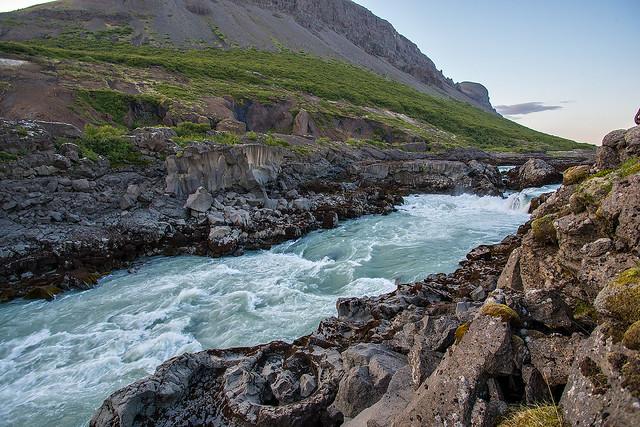 Flúðir milli Tröllkonuhlaups og Þjófafoss