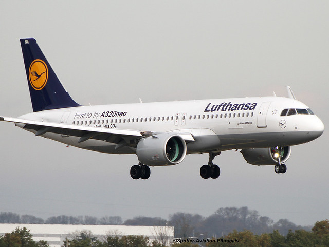Lufthansa. FIRST A320 NEO FOR THE COMPANY.