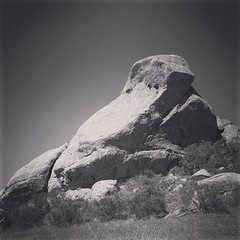 Santa Monica Mountains Geology I drive by this rock outcropping quite regularly. It always struck me as looking a little bit like a frog getting ready to jump. That's just like us humans though. Always seeing things were nothing really exists. #nature #ge