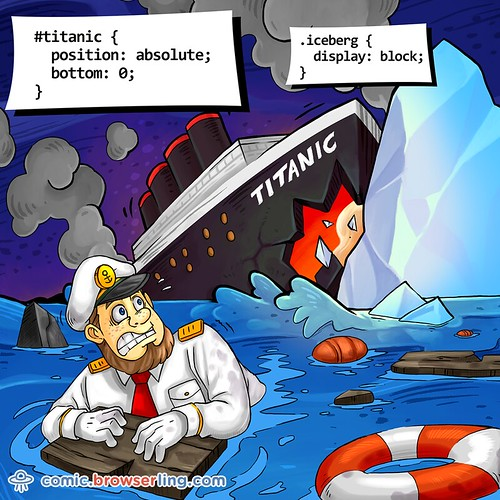 Titanic and Iceberg - Webcomic about web developers, programmers and browsers
