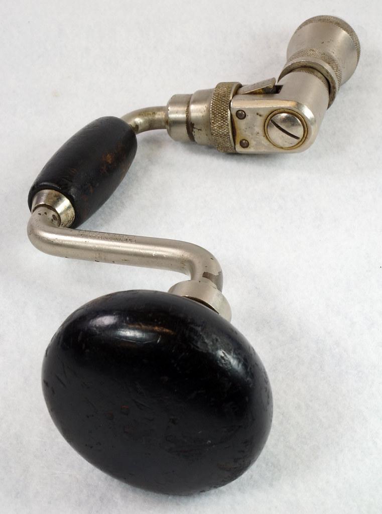 RD14631 Vintage Stanley Ratcheting Bit Brace Hand Drill x 3 - 6 DSC08867