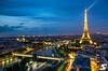 Pont Bir-Hakeim & Tour Eiffel @ Blue Hour by A.G. Photographe
