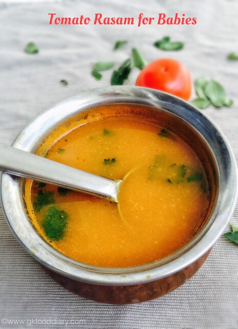Tomato Rasam for Babies 1