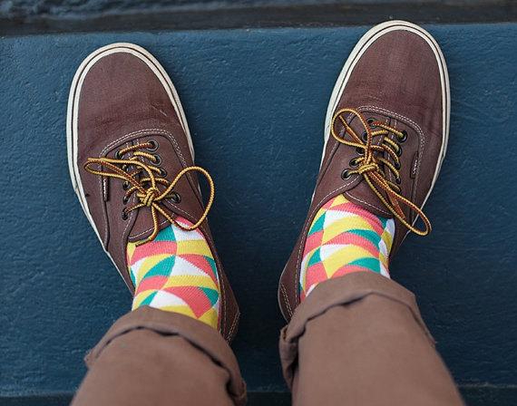 Chaussettes géomètriques