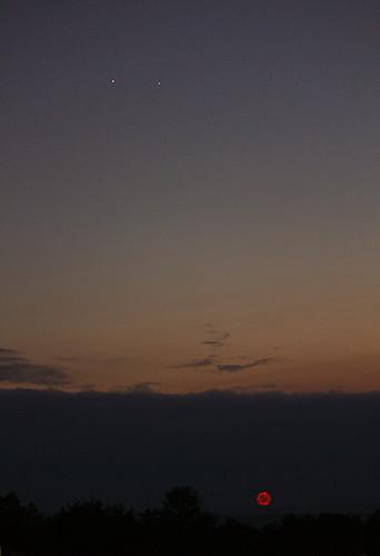 sunset sky fireworks hss canon55250mmislens venusjupiterconjunction