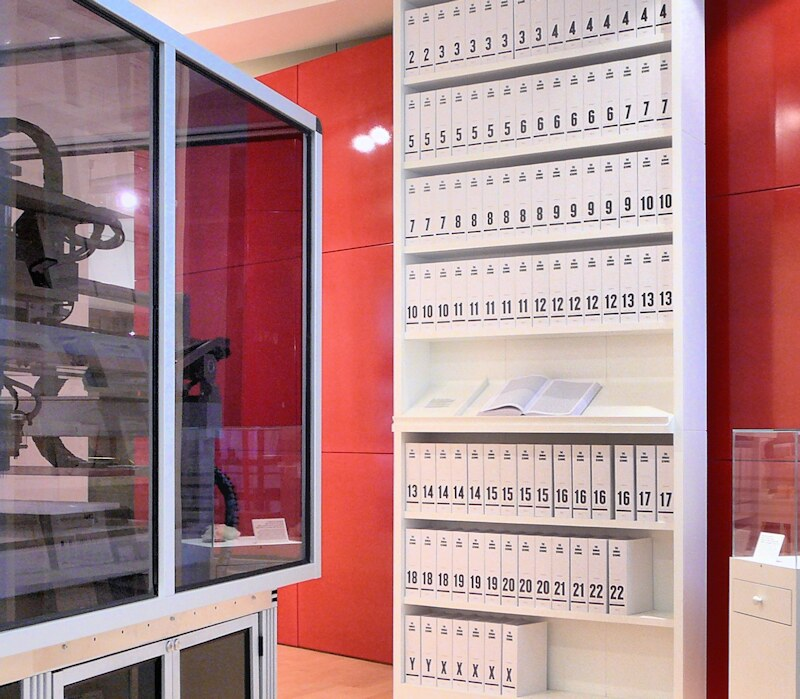 The first printout of the human genome, displayed at the Wellcome Collection, London