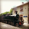 Arrivée de la #locomotive en gare de #Pugets-théniers