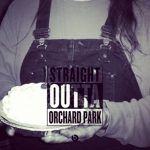 1 of 3: My contributions to this Straight Outta thing. #straightoutta #pie #overalls