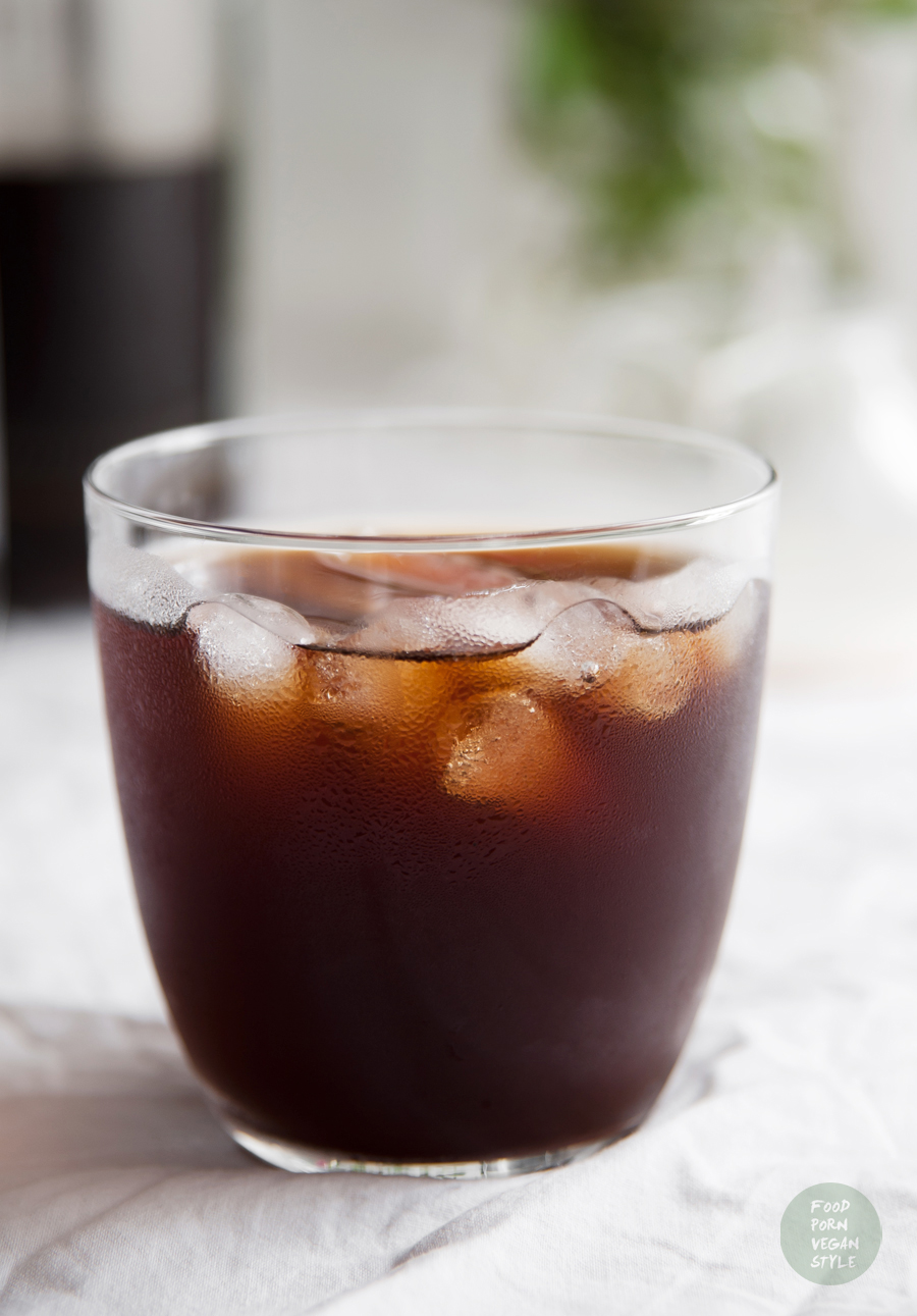 Vegan cold brew iced coffee