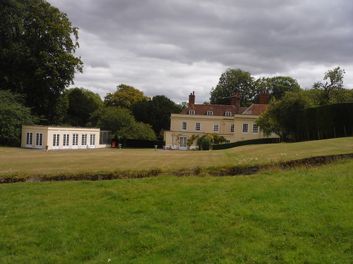 Back of Throope Manor House (with Ha-Ha)