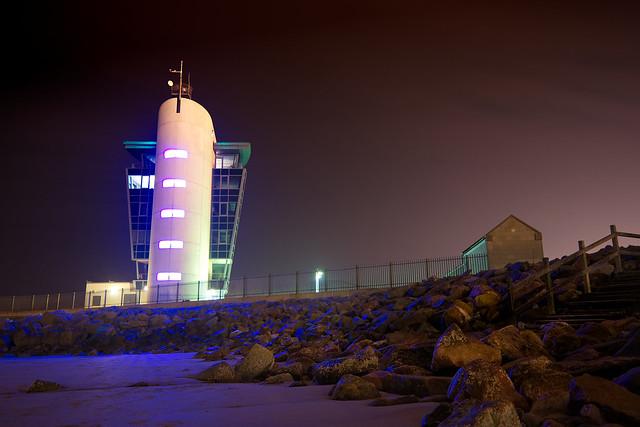 Beach & Control Tower, Aberdeen, March 2015