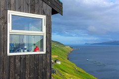 Window of a house in Valbastaður, Faroe Islands