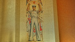 This large mosaic of a sailor seems less homo erotic when you are in the tomb of the unknown soldier