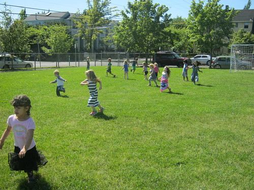 Children's House - Running on the Soccer Field