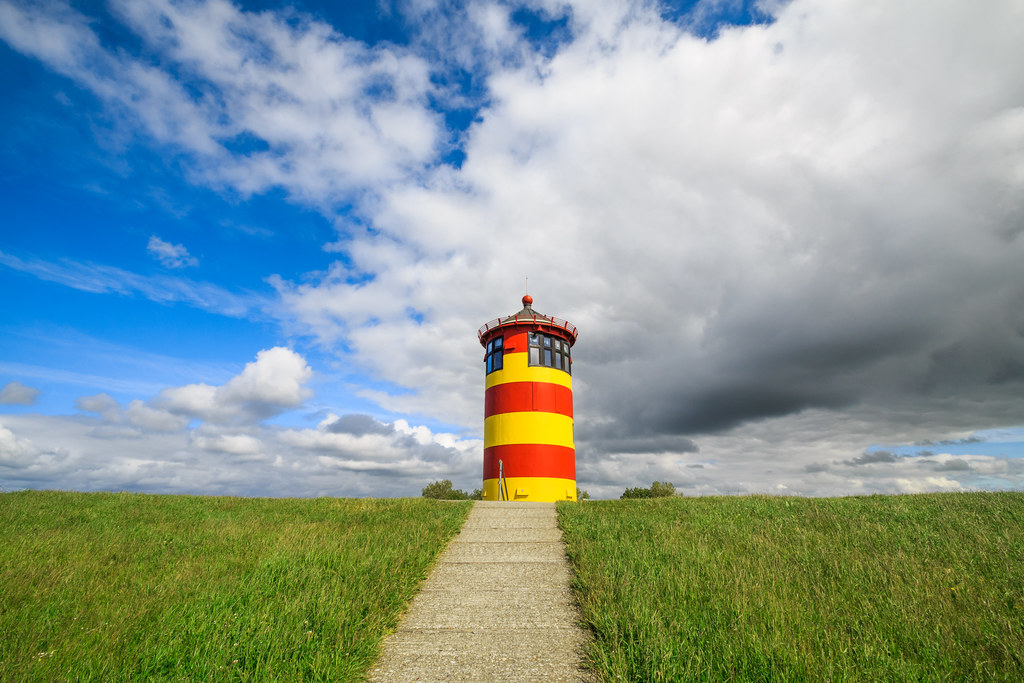 The lighthouse of Pilsum, OstFriesland, Germany