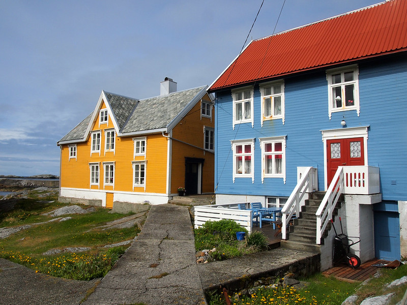 Houses on Gripholmen, Norway