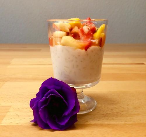 Milchreis mit Obstsalat als Nachtisch für Arabella 😊