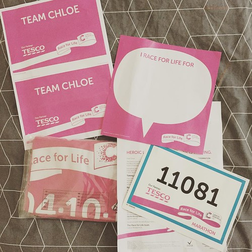Marathon race pack arrived this morning. As if the 14 mile run wasn't enough this weekend, it all just got very real!