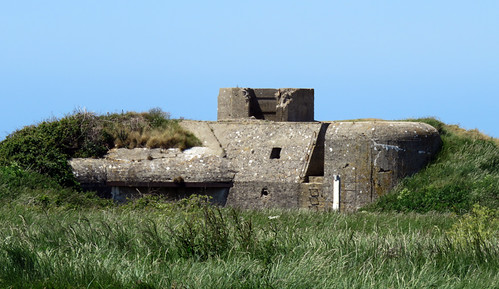 An old bunker at Cap Fagnet on the Alabaster Coast of France