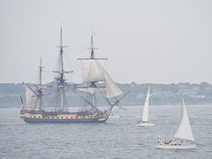 L'Hermione in the haze
