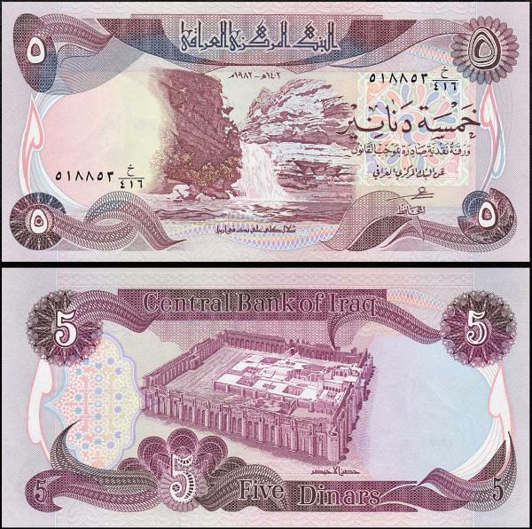 5 irackých dinárov Irak 1982, Pick 70a