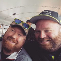 Snuggles on the school bus to training camp!