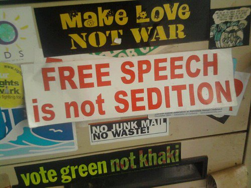 Free Speech is not Sedition