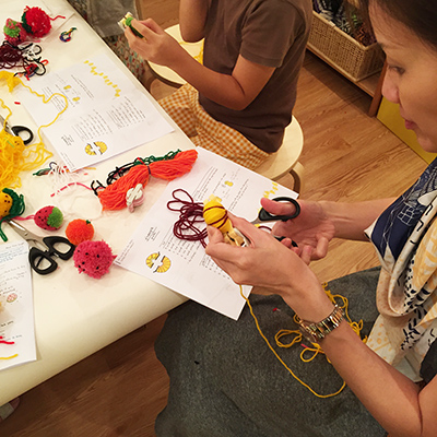 Fruit Pom Pom Workshop at The Little Drom Store